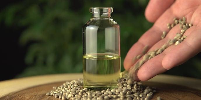 cbd oil in a bottle