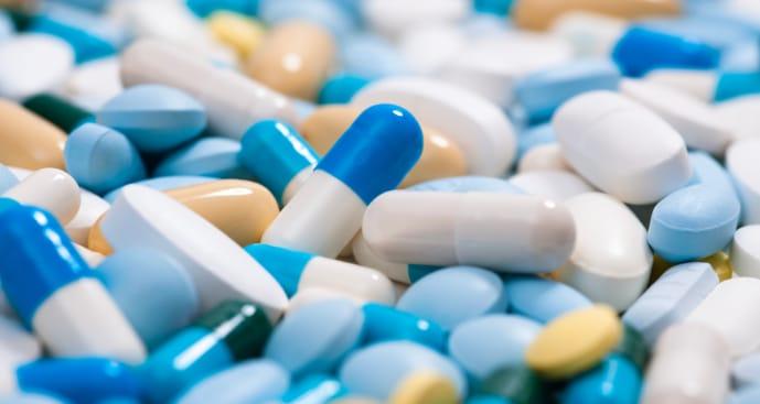 Various pills from the pharmaceutical blending process