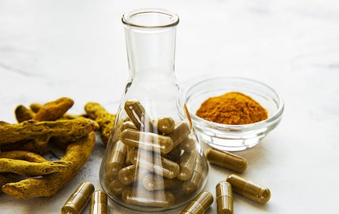 tumeric powder and capsules